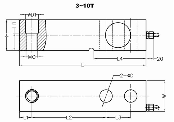 悬臂梁式传感器GNS-XB02