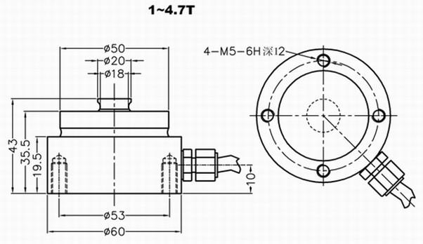 工作测力仪GNS-TX2-Y05